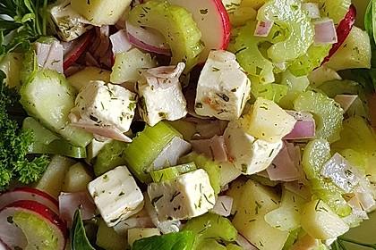 Antipasti - Salat mit Schafskäse und Pesto - Dressing 1
