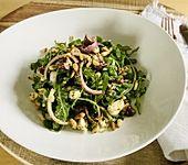 Antipasti - Salat mit Schafskäse und Pesto - Dressing (Bild)