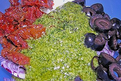 Antipasti - Salat mit Schafskäse und Pesto - Dressing 15