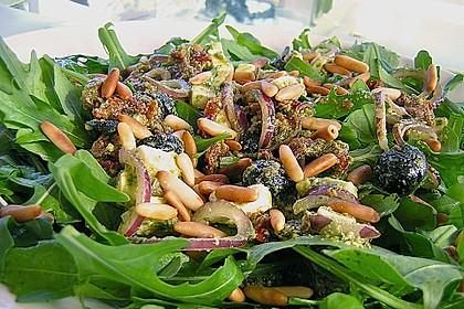 Antipasti - Salat mit Schafskäse und Pesto - Dressing 3
