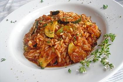 Zucchini - Reis - Pfanne a la Helene 1