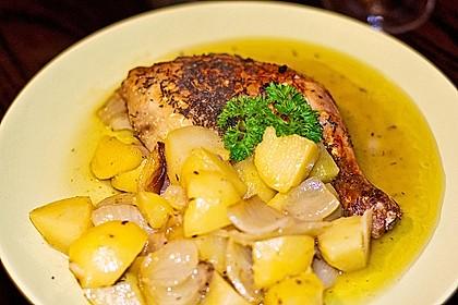 Hähnchenschenkel in Zitronen - Knoblauch - Sauce 5