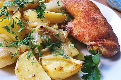 Hähnchenschenkel in Zitronen - Knoblauch - Sauce 3