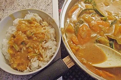 Baked Butternut mit Reis und Currygemüse 34