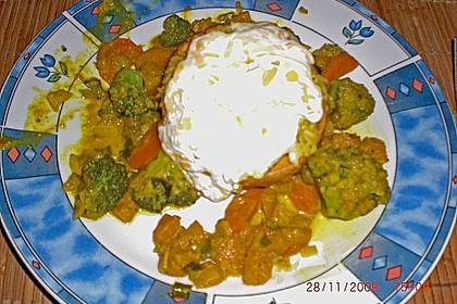 Baked Butternut mit Reis und Currygemüse 42