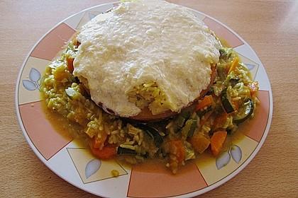 Baked Butternut mit Reis und Currygemüse 27