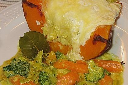Baked Butternut mit Reis und Currygemüse 19