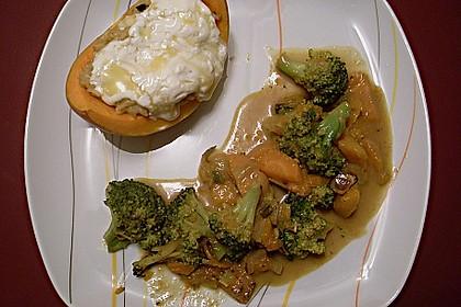 Baked Butternut mit Reis und Currygemüse 20
