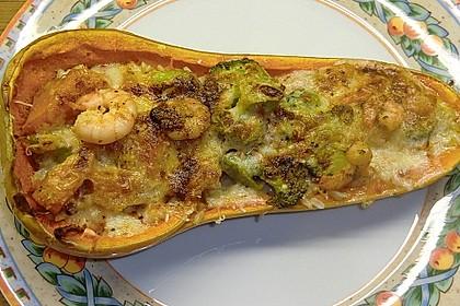 Baked Butternut mit Reis und Currygemüse 12