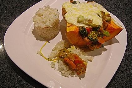 Baked Butternut mit Reis und Currygemüse 13