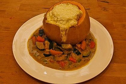 Baked Butternut mit Reis und Currygemüse 15