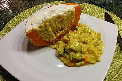 Baked Butternut mit Reis und Currygemüse 23