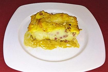 Knödel-Sauerkraut-Auflauf (Bild)