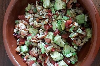 Avocado - Flusskrebs - Salat 6