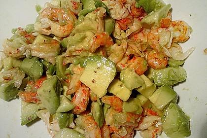 Avocado - Flusskrebs - Salat 4