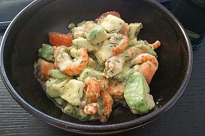 Avocado - Flusskrebs - Salat 7