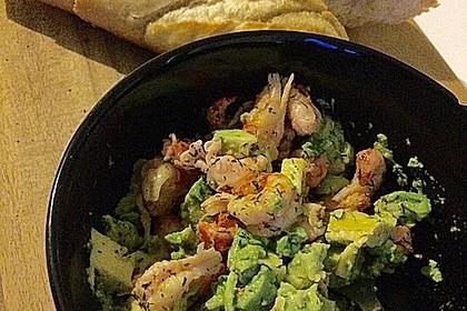 Avocado - Flusskrebs - Salat 5