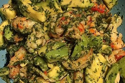 Avocado - Flusskrebs - Salat 9