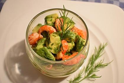 Avocado - Flusskrebs - Salat