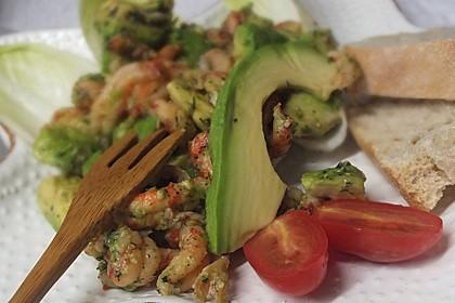 Avocado - Flusskrebs - Salat 3