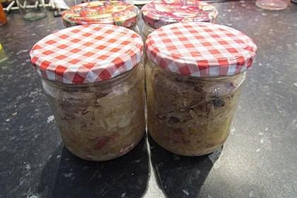 Sauerkraut auf Vorrat gekocht 1