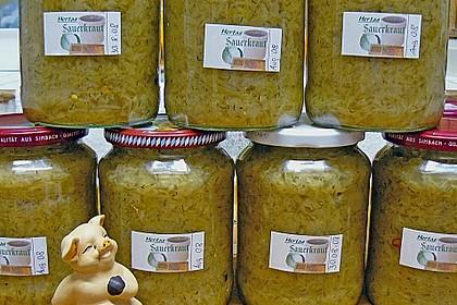 Sauerkraut auf Vorrat gekocht 2