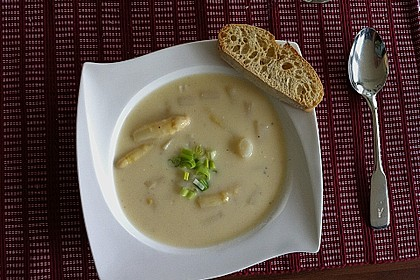 Spargelcremesuppe 14