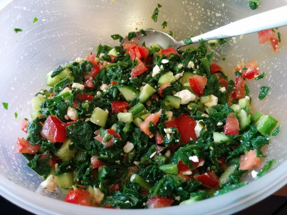 Griechischer Tomaten Mangold Salat Von Heimwerkerkönig Chefkoch
