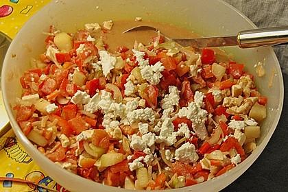 Tomaten - Melonen - Salat mit Ziegenkäse 1