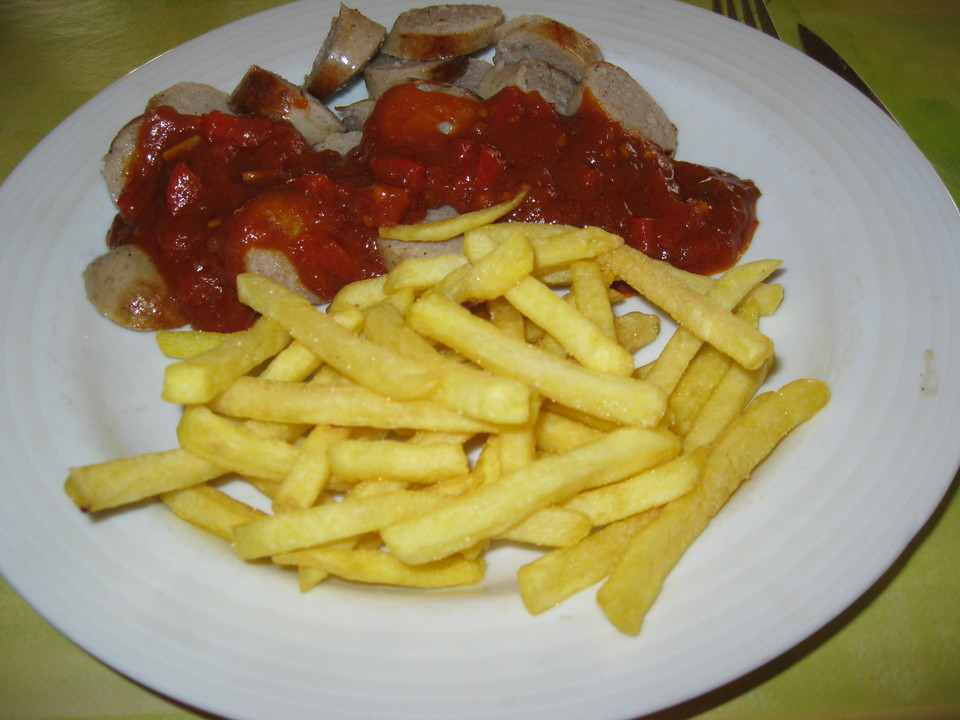 Currywurst Mit Pommes Von Scansano Chefkoch