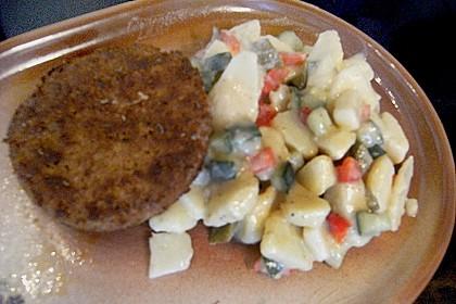 Kartoffelsalat mit Essig und Öl 9