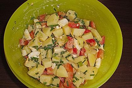 Kartoffelsalat mit Essig und Öl 5