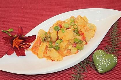 Kartoffelsalat mit Essig und Öl 8