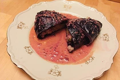 Kohlrouladen mit Couscous - Cashew - Füllung mit Curry 5