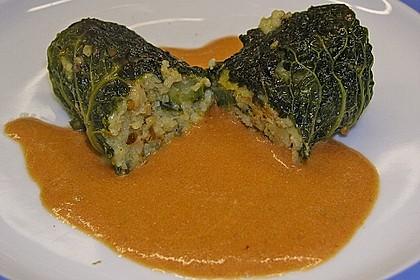 Kohlrouladen mit Couscous - Cashew - Füllung mit Curry 1