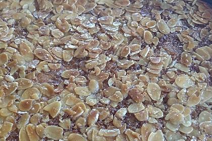 Wandelbarer Blechkuchen mit Butter - Mandelkruste 7