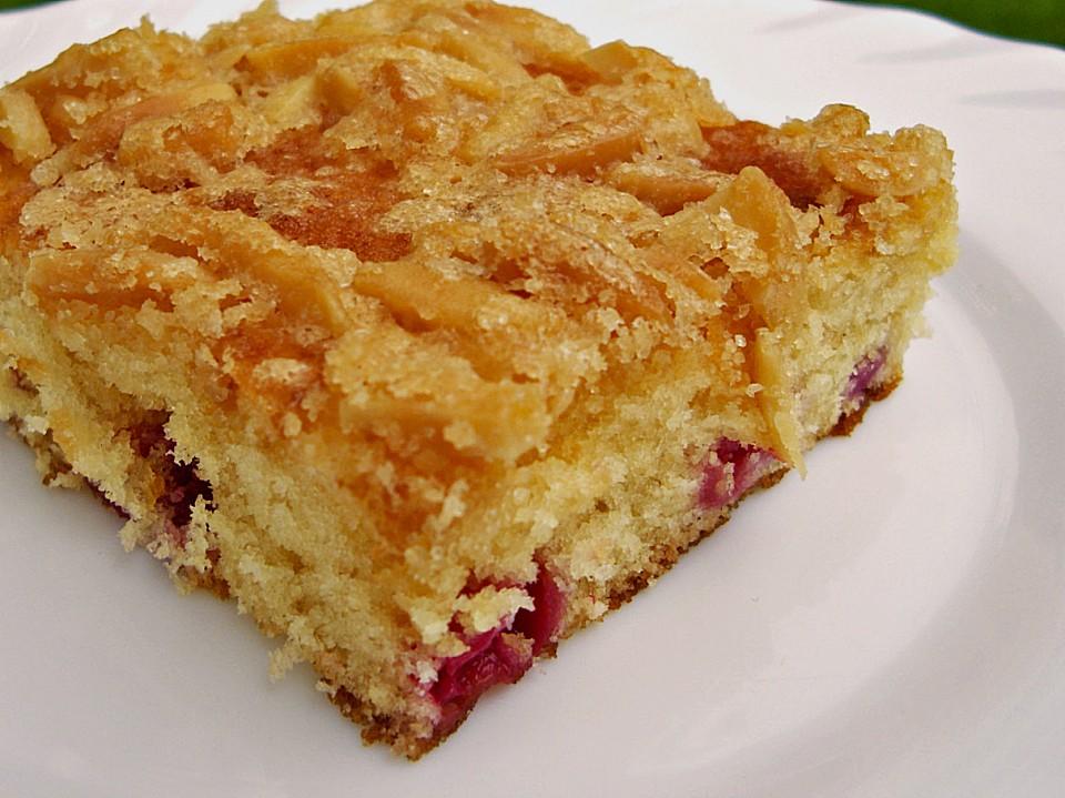 Wandelbarer Blechkuchen Mit Butter Mandelkruste Von Mirabelle83