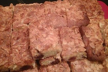 Wandelbarer Blechkuchen mit Butter - Mandelkruste 5