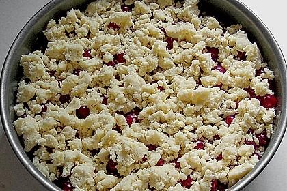 Obst - Pudding - Hefekuchen mit Vanillestreuseln 5