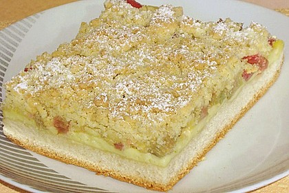 Obst - Pudding - Hefekuchen mit Vanillestreuseln 4