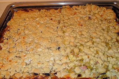 Obst - Pudding - Hefekuchen mit Vanillestreuseln 6