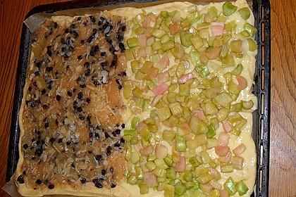 Obst - Pudding - Hefekuchen mit Vanillestreuseln 9
