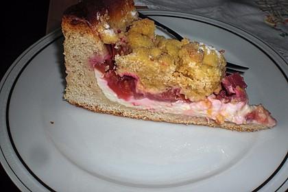 Obst - Pudding - Hefekuchen mit Vanillestreuseln 7