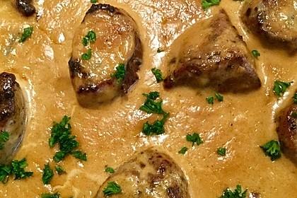 Schweinemedaillons in Gorgonzola - Creme 4