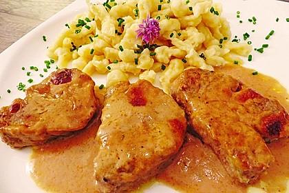 Schweinemedaillons in Gorgonzola - Creme 2