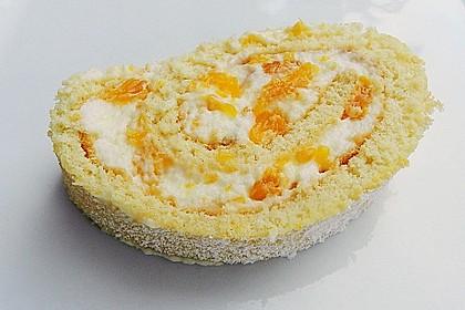 Mandarinenquark - Biskuitrolle 1