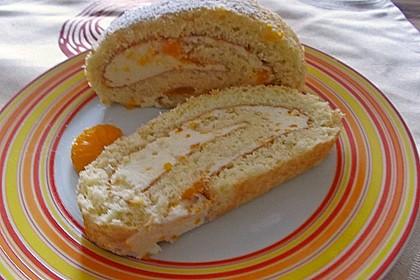 Mandarinenquark - Biskuitrolle 15