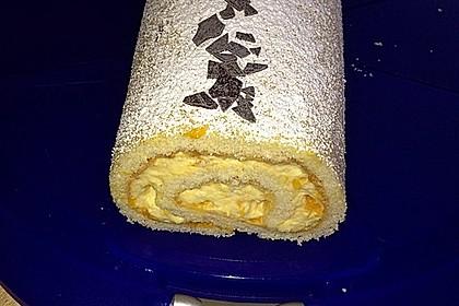 Mandarinenquark - Biskuitrolle 14
