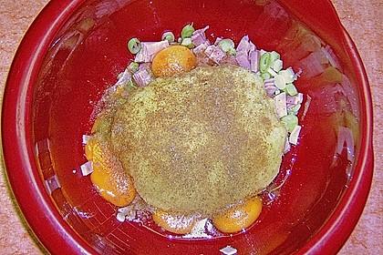 Riefkoken mit Kochschinken und Lauzwiebeln 6