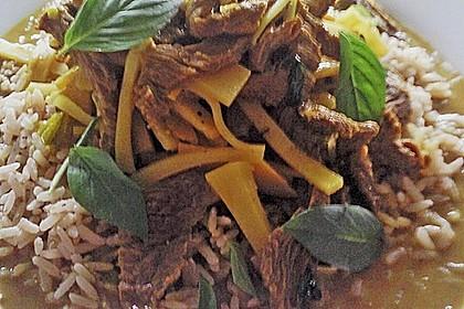Rindfleischcurry mit Thai - Basilikum 1